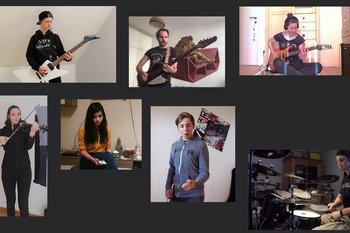 Metal, Rock und Pop: Musikschul-Ensembles gestalteten Home-Videos